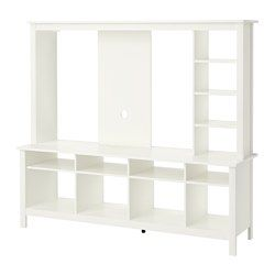 ikea tomn s tv storage unit white you can integrate the tv into the shelf system and. Black Bedroom Furniture Sets. Home Design Ideas