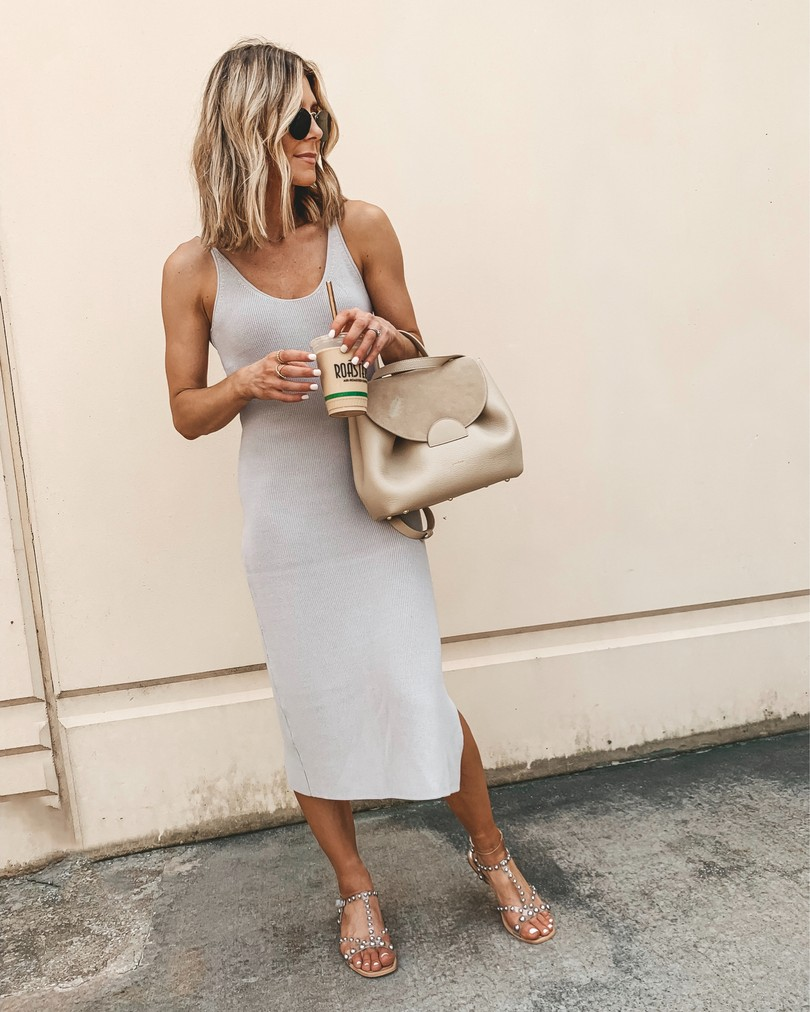 Sweater Dress Summer Work Wear Business Casual Just Add A Light Weight Sweater Or Blazer Sum Fashion Spring Summer Fashion Casual Outfit Inspiration [ 1012 x 810 Pixel ]