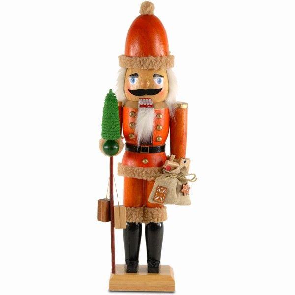 SIKORA Nußknacker Figur WEIHNACHTSMANN aus Holz 46cm Nußknacker Klassiker