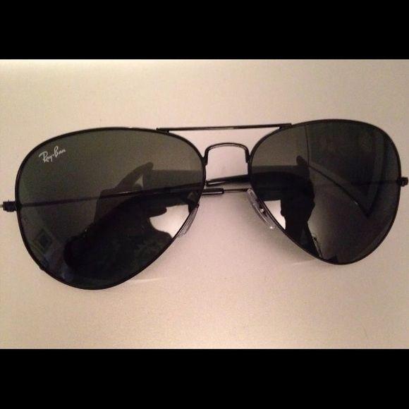 ray ban aviator black lenses