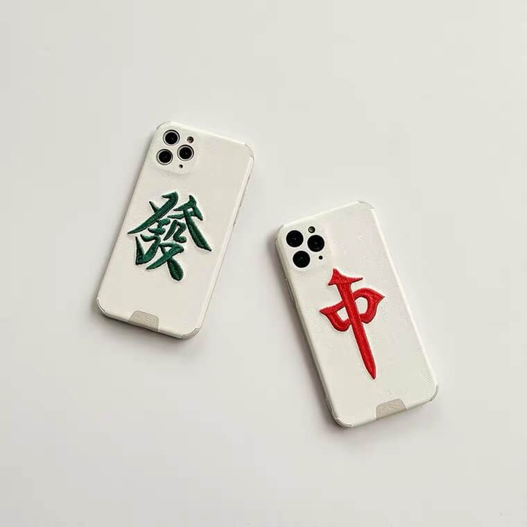 Embroidered Mahjong Phone Case in 2021 Phone case
