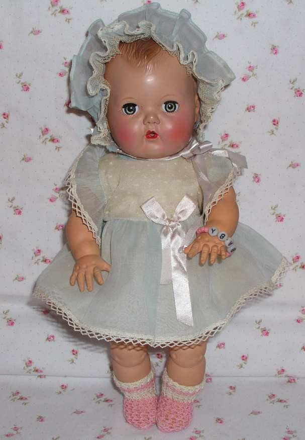 2895 Rare 1950 American Character Tiny Tears Doll In