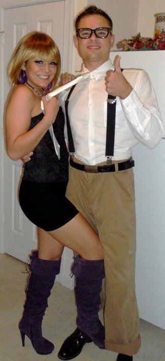 Couple costume. Nerd & rented girlfriend lol