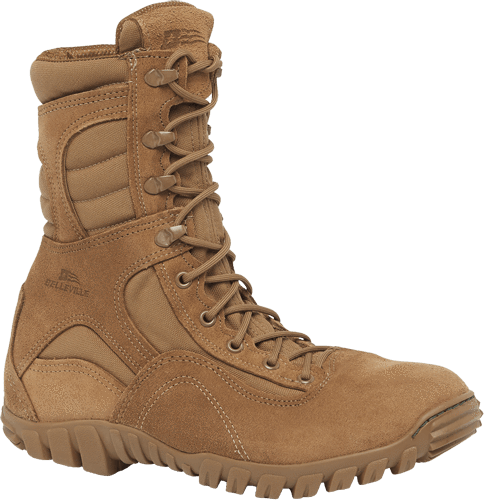 Belleville Navy Certified Coyote Steel Toe Hot Weather Assault Boot 533 St Boots Steel Toe Boots Tactical Boots