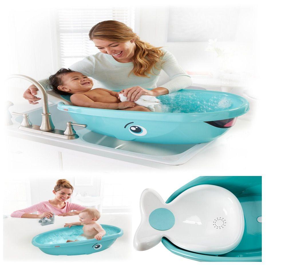 Baby Bathtub Whale Bath Tub Infant Newborn Bathing Shower Fisher ...