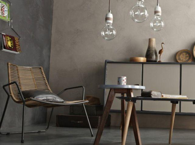 enduit decoratif mur gris leroy merlin | enduits | pinterest