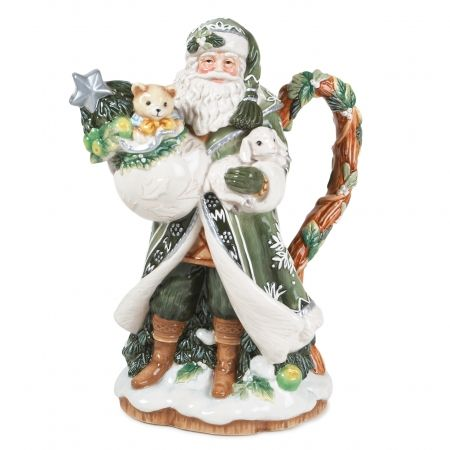Winter Garden Santa Teapot Fitz and Floyd~ an early Christmas gift