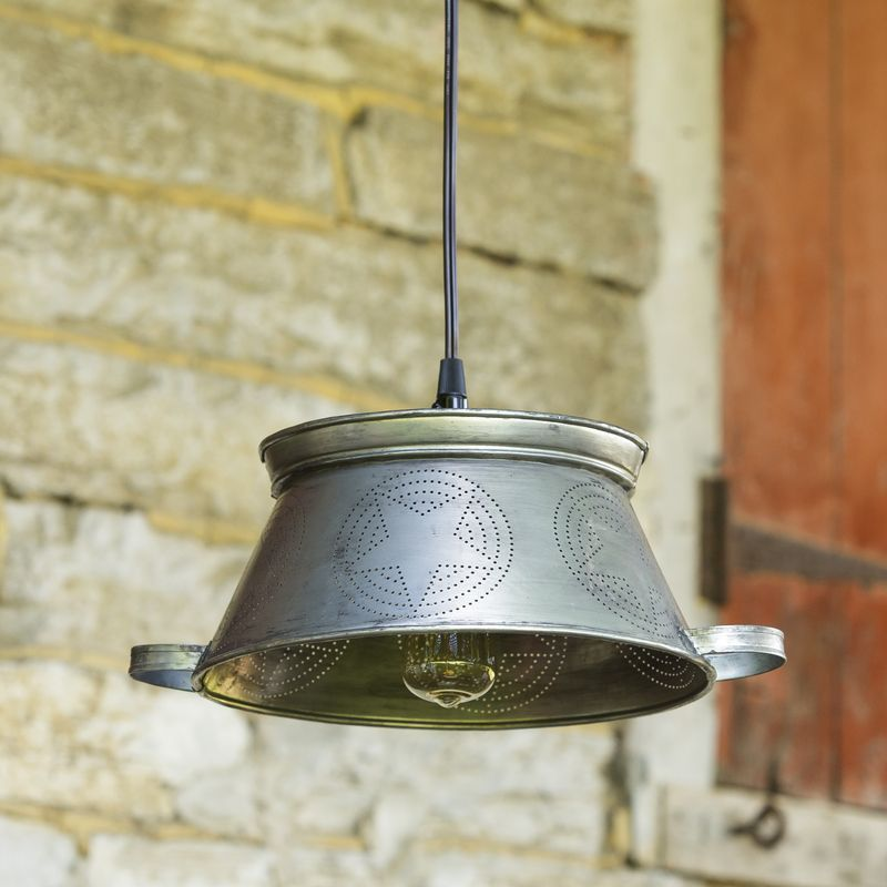 Pendant Lamp Colander All Everyday Products Audreys Your