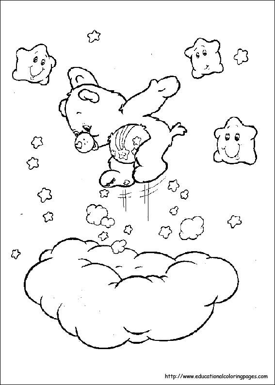 Carebears Coloring Pages Free For Kids Glucksbarchis Disney