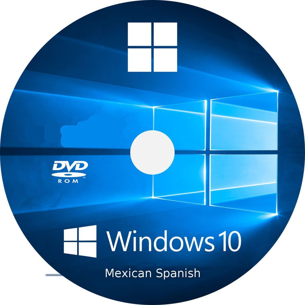 Windows 10 Home Pro Upgrade DVD Mexican Spanish (32 BIT OR