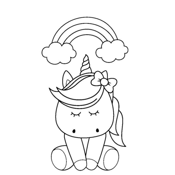 51 Cute Cartoon Unicorn Coloring Pages Unicorn Coloring Pages Coloring Pages Mermaid Coloring