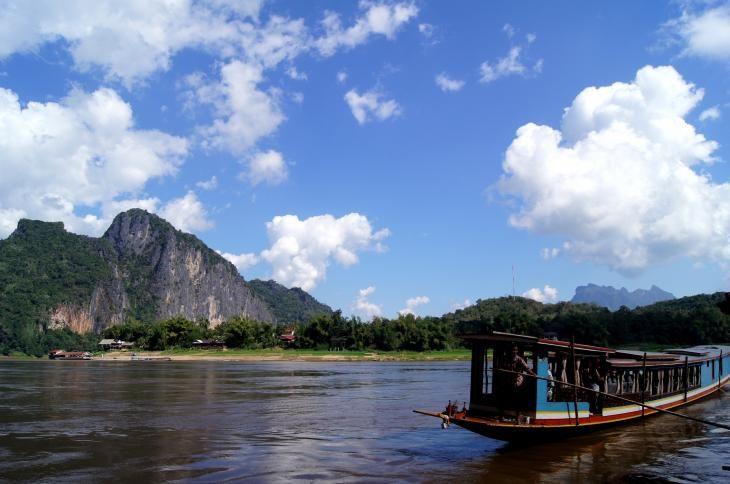 Mighty Mekong in Luang Prabang, Laos