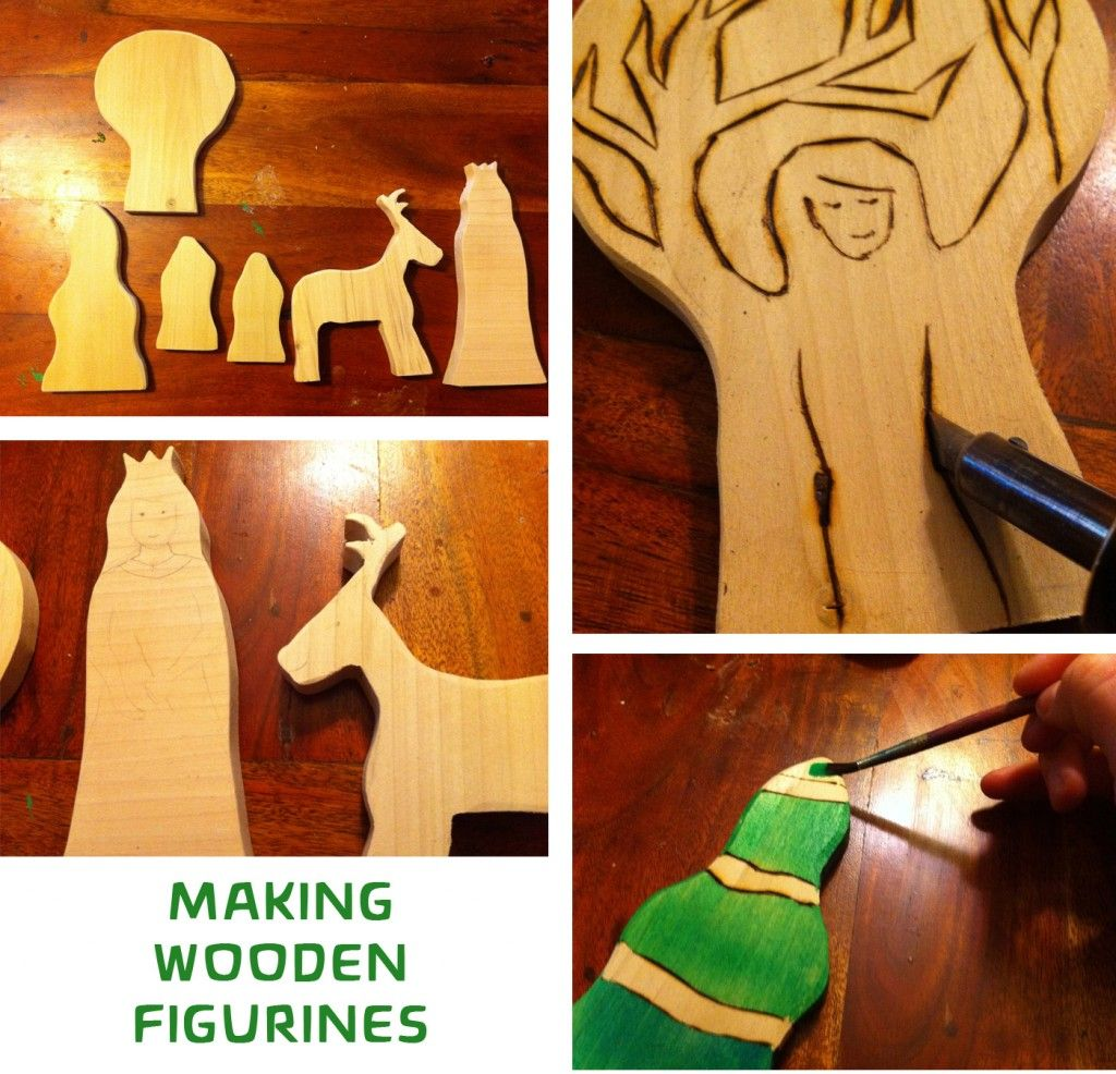 Winter nature table - Making The Wooden Figurines For A Winter Waldorf Nature Table