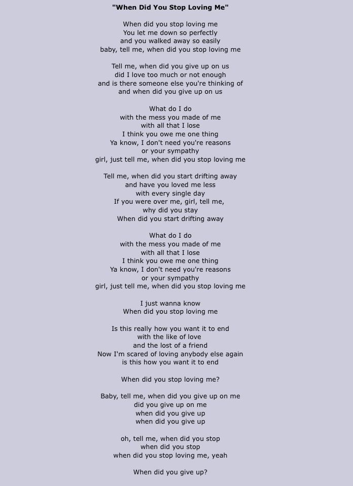 Lyric i ve been changed lyrics : When did you stop loving me-Hunter Hayes This song breaks my heart ...