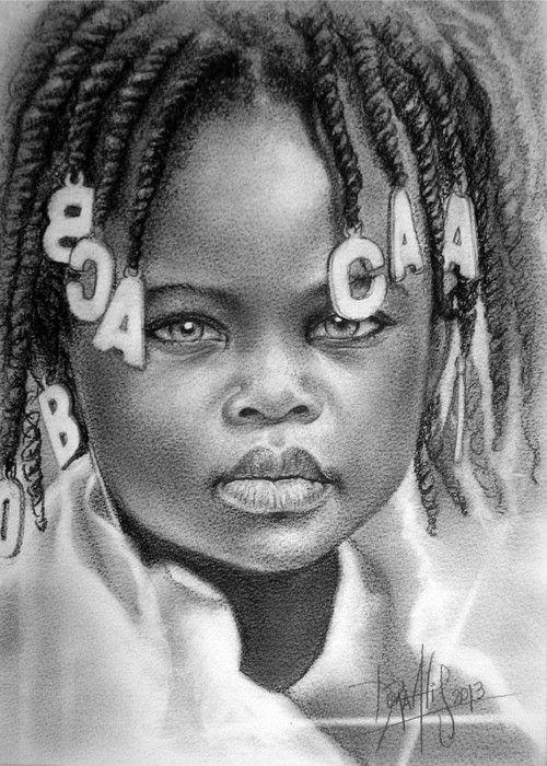 Pin De Yeye Mayora Em Ninos Del Mundo Retrato Desenho Beleza Negra
