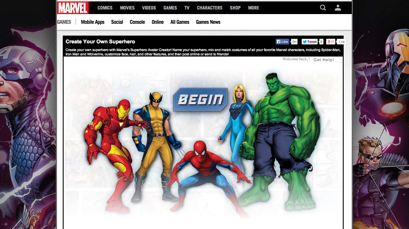 create your own superhero with marvel s superhero avatar creator