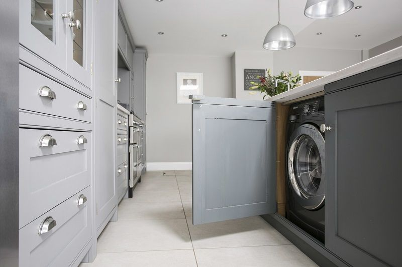 Hidden Washing Machine In Kitchen Island