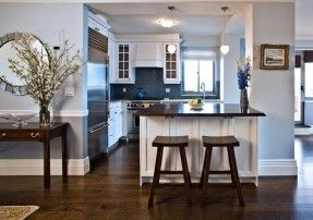 Sweet kitchen design with khaki walls paint color, farmhouse sink ...