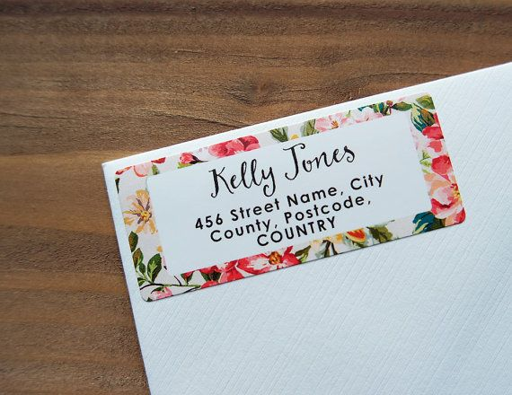 30 Custom Return Address Labels Floral Tropical Flowers Personalized ...