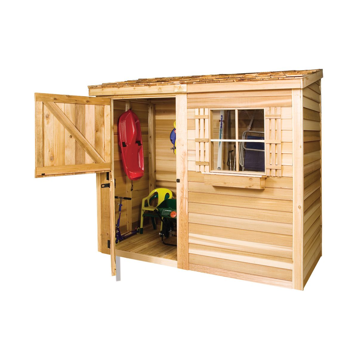 Garden Sheds At Lowes shop cedar shed bayside shed at lowe's canada. find our selection