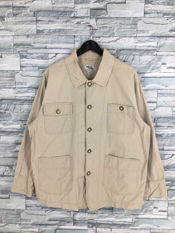 Denim Jeans Jacket Labour Beige Large Vintage 80s Casual Style Etsy Jean Jacket Outfits Men Vintage Denim Jacket Outfit Denim Jacket Outfit [ 3000 x 2250 Pixel ]