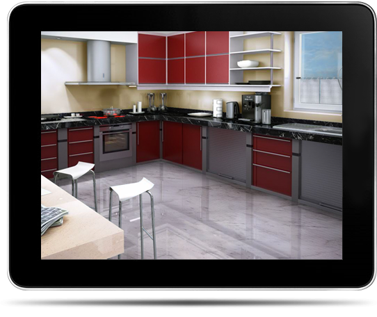 Marmol3d dise o de sal n ba o y cocina con un programa for Programa diseno cocinas 3d