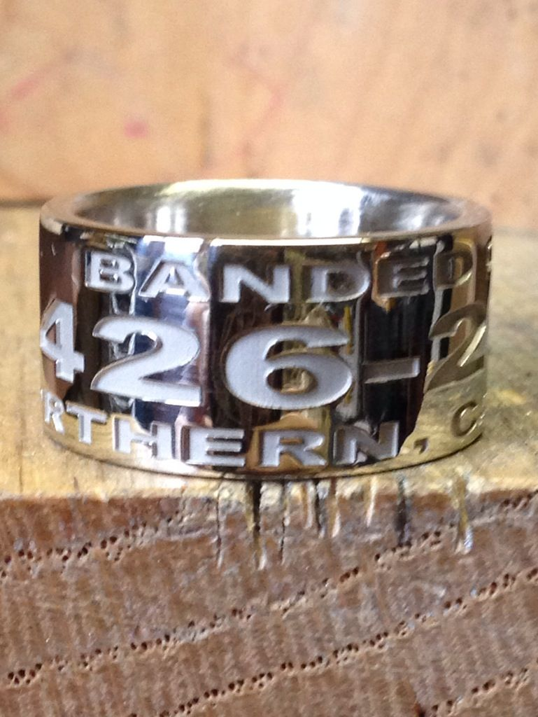 14k white gold custom duck band ring wwwduckbandbrandcom - Duck Band Wedding Rings