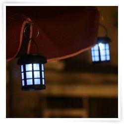 Smart Solar Hanging Umbrella Lanterns 2 Pack