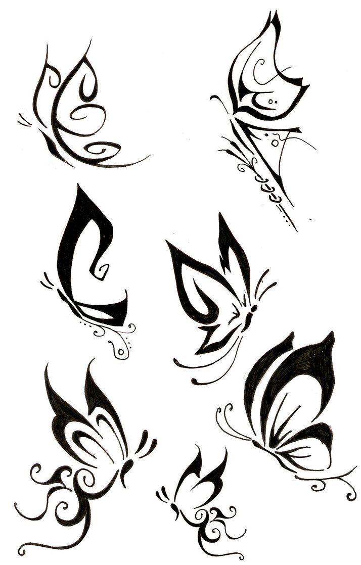 Diseños De Mariposas Para Tatuajes En Blanco Y Negro Muchos De