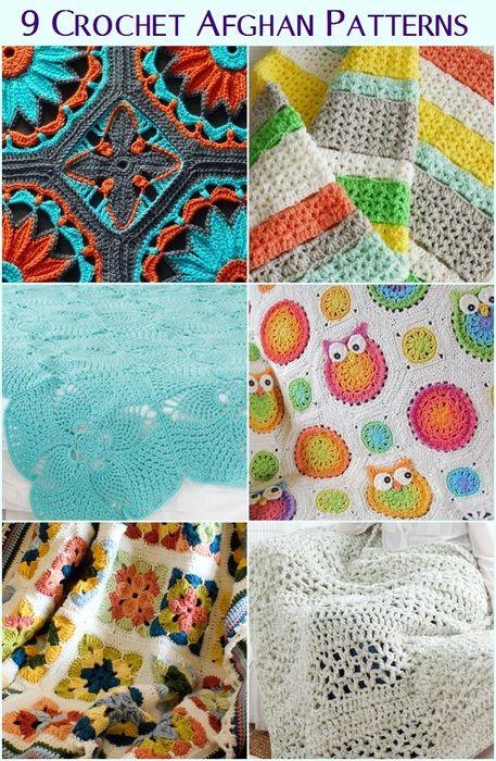 9 Cozy Crochet Afghan Patterns | Colchas a crochet | Pinterest ...