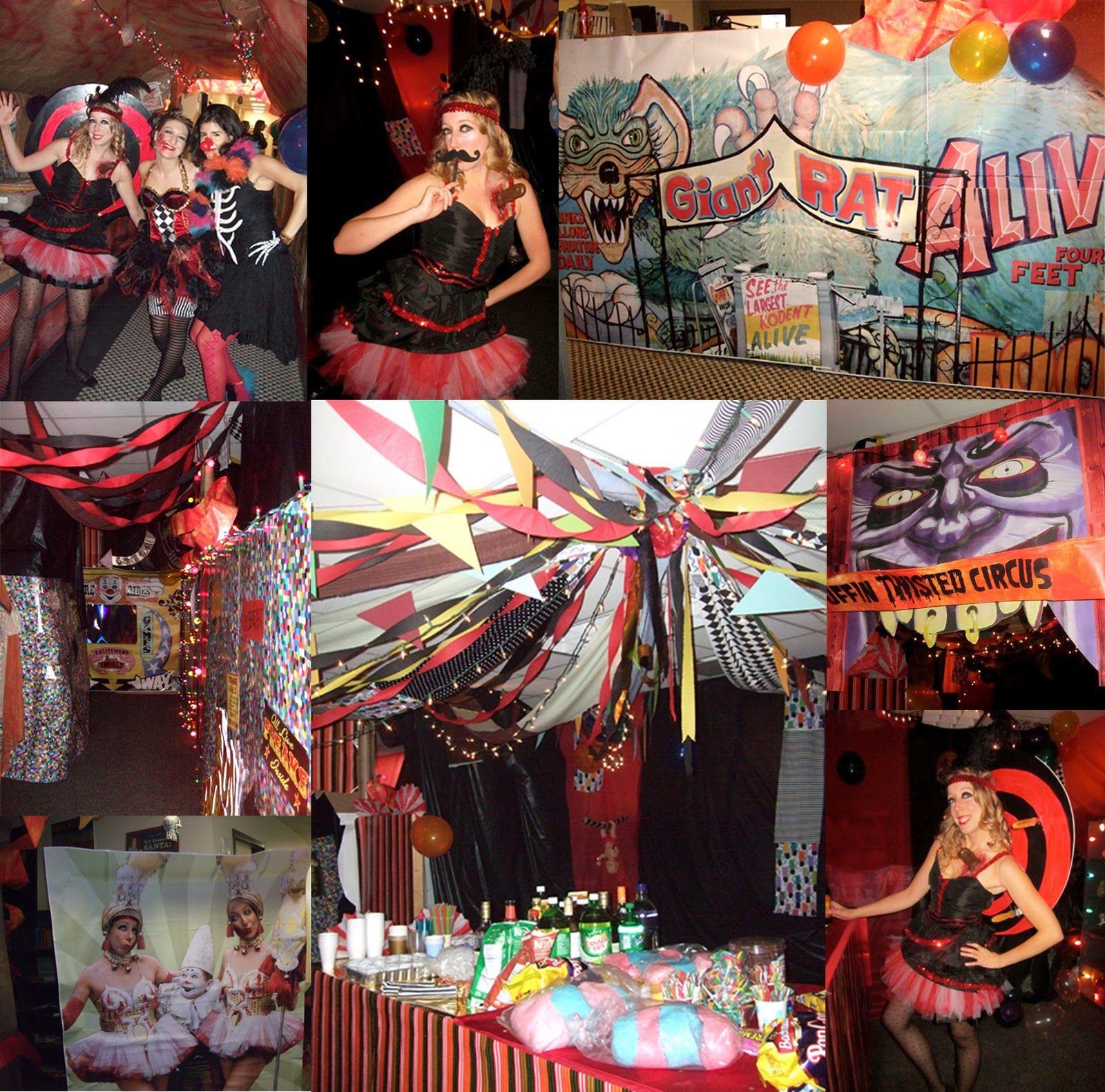 Creepy Vintage Circus Halloween Party Theme