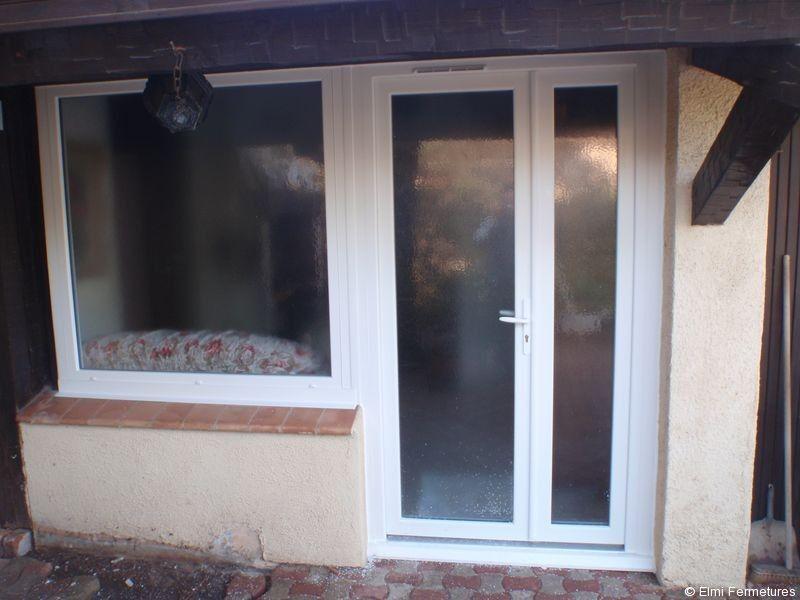 Porte fenêtre pvc 2 vantaux tiercé Draguignan fenetre Pinterest - Peinture Porte Et Fenetre