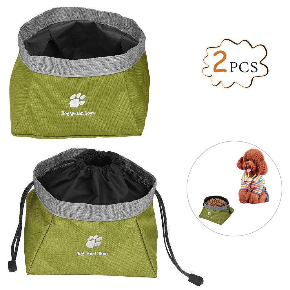 Petacc Collapsible Oxford Fabric Pet Bowls Waterproof Pet Travel
