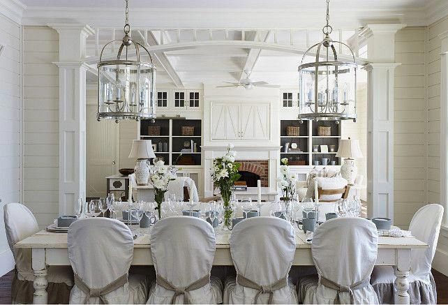 Trendy Lake Cottage Dining Room Perfect For A Large Number Of