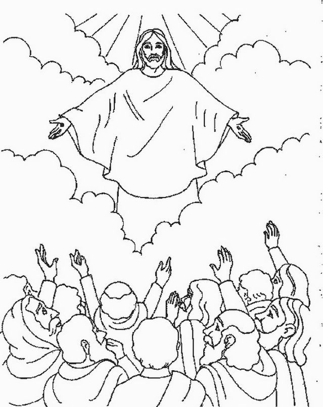 Ascension of Jesus Christ Coloring Pages | Sunday school, Bible and ...