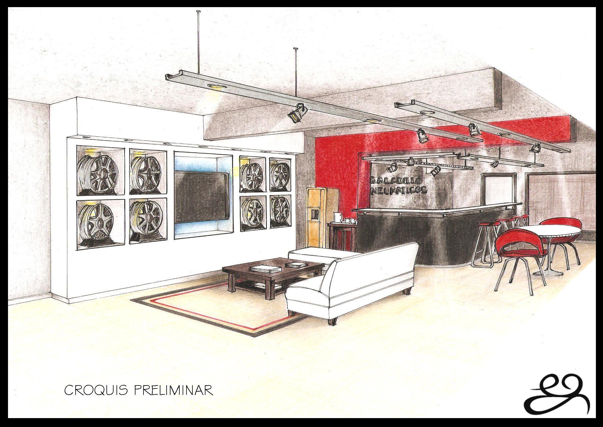 Un showroom de neumáticos!