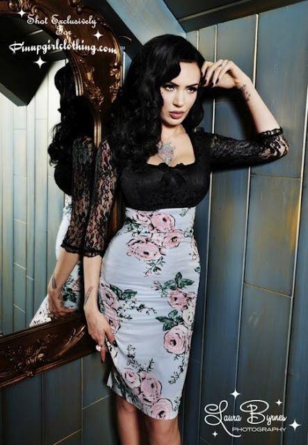 Micheline Pitt...clothing designer for Pinup Girl Clothing website ...
