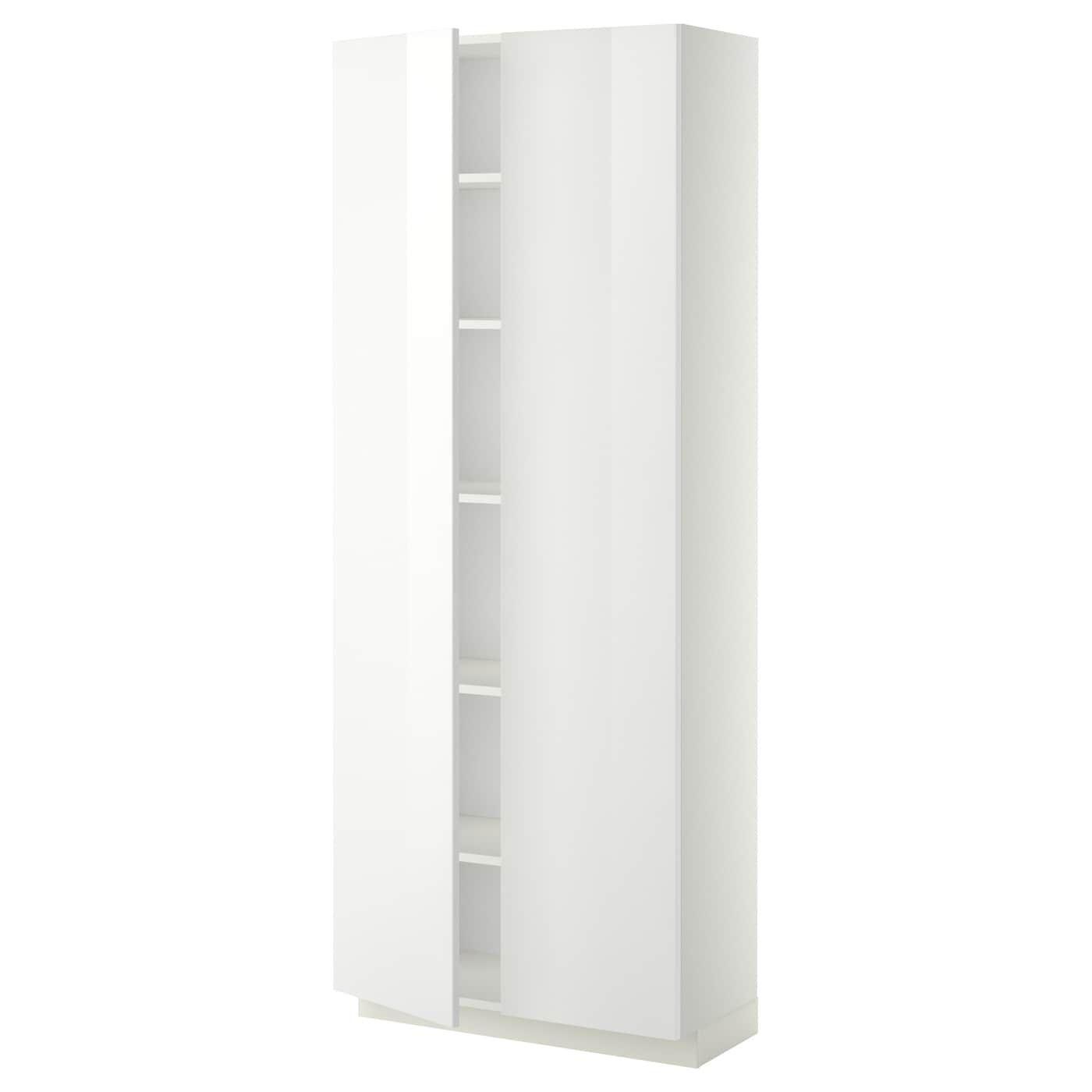 METOD weiß Hochschr. f Ofen+2 TürenBöden Frame colour: weiß
