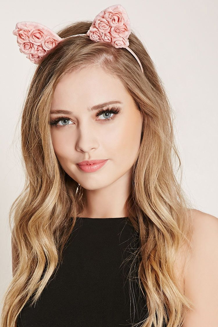 Floral Lace Cat Ears Headband | Forever 21 - 1000223440