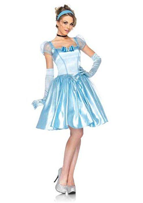 Cinderella Princess Dress Adult Women Ladies Fancy Cosplay Costume Halloween