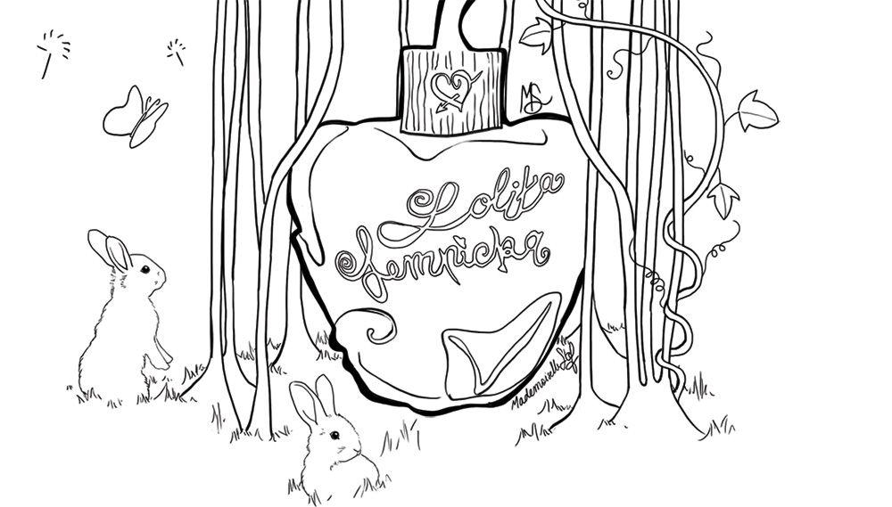 Coloriage : Parfum Lolita Lempicka
