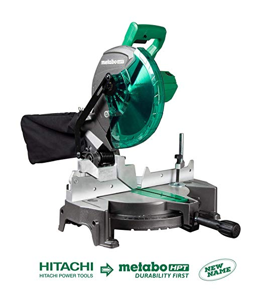 Metabo Hpt C10fcgs 10 Compound Miter Saw 15 Amp Motor Single Bevel 0 52 Miter Angle Range 0 45 Bevel Range Large Table 10 24t Tct Saw Blade Instrument