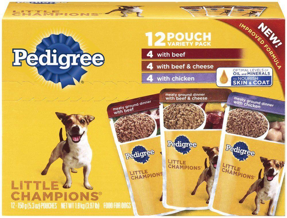 Pedigree little champions wet dog food variety packs