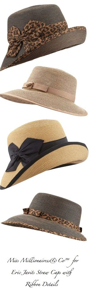 Eric Javits 2015 Straw Hats/Caps With Ribbon Details  #erice  #sicilia #sicily                                                                                                                                                      More