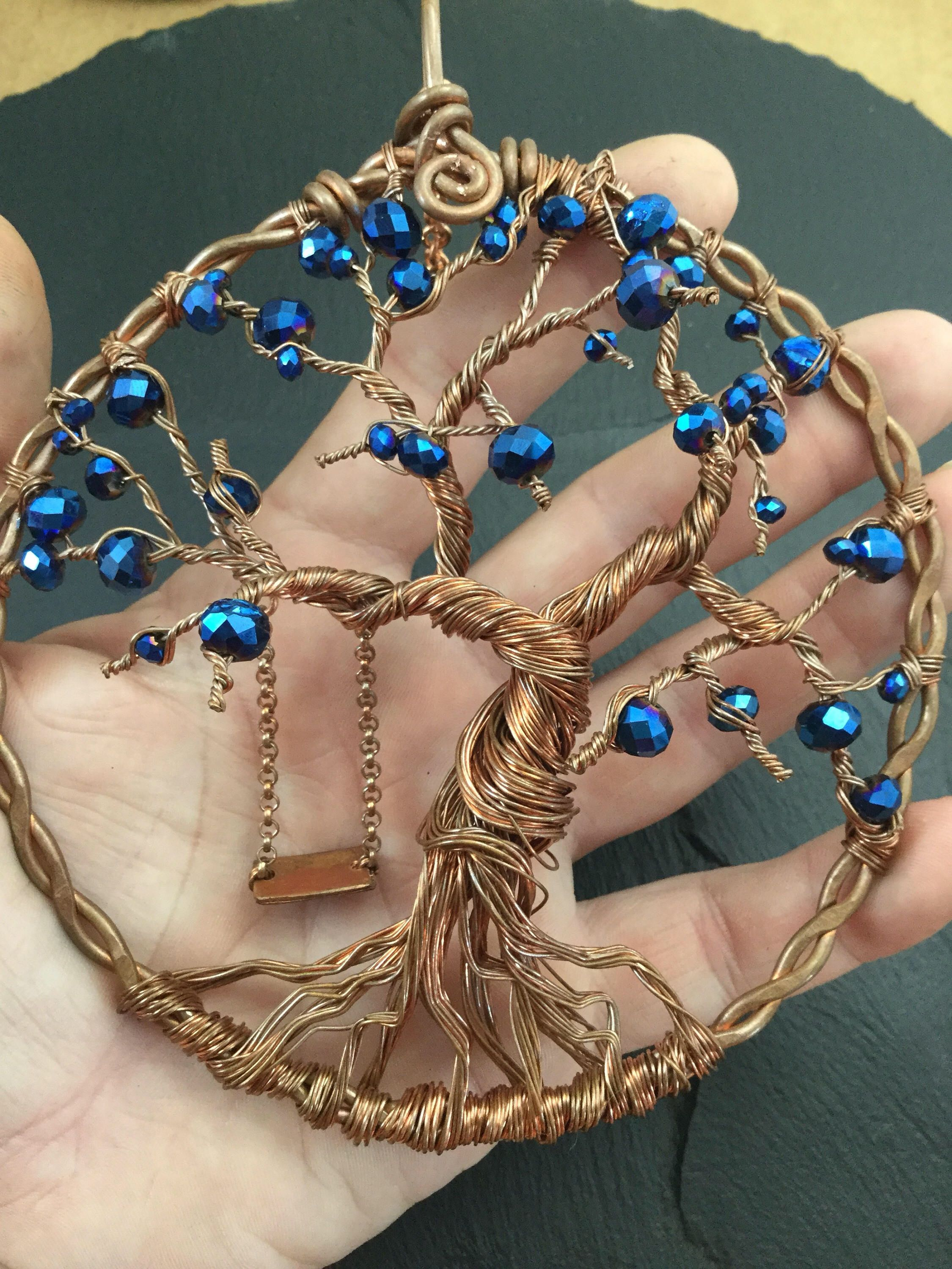 Tree of life sun catcher ,wire sun catcher, recycled copper art ...