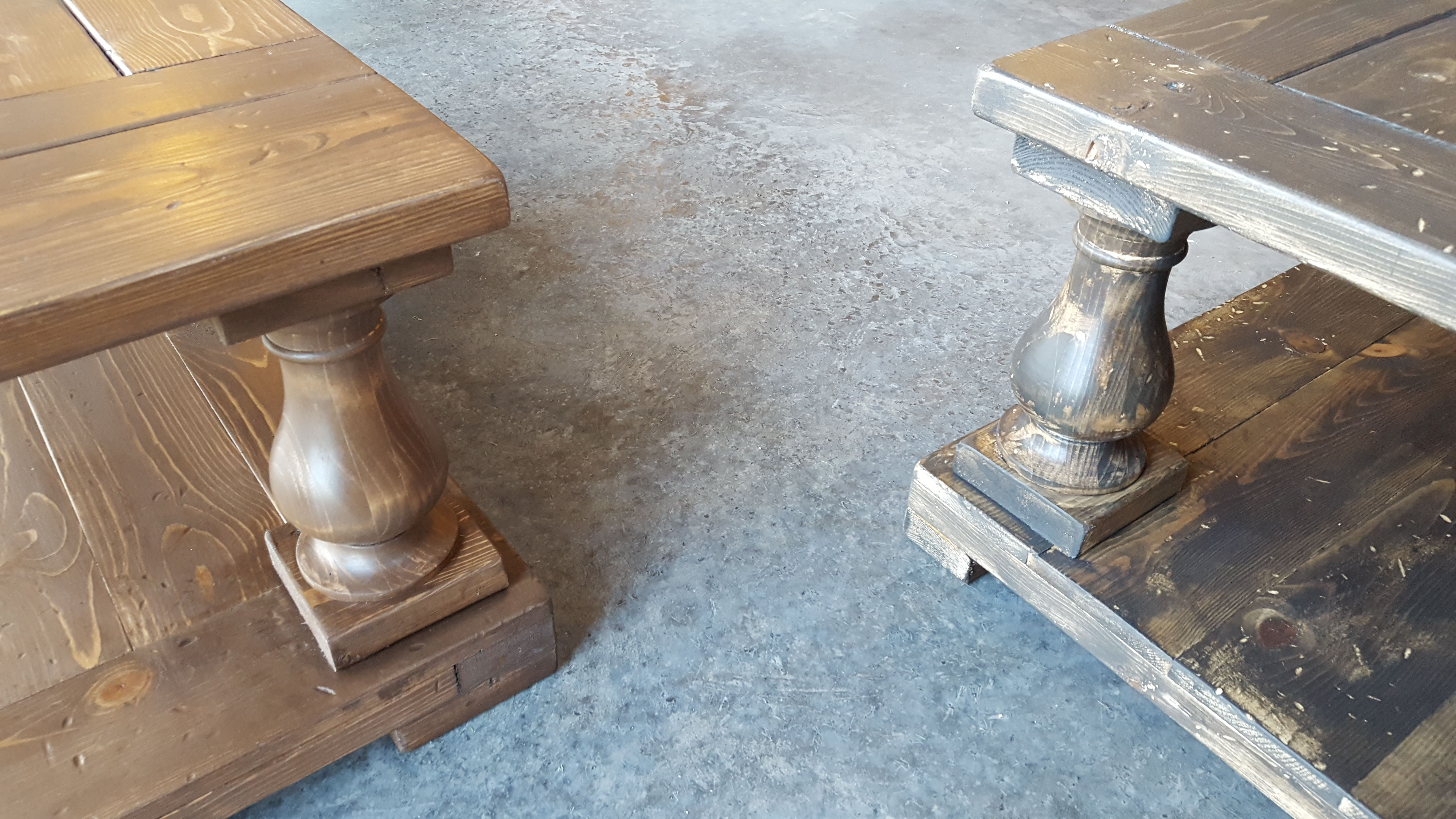 THese custom coffee tables were built for a Parade of Homes last