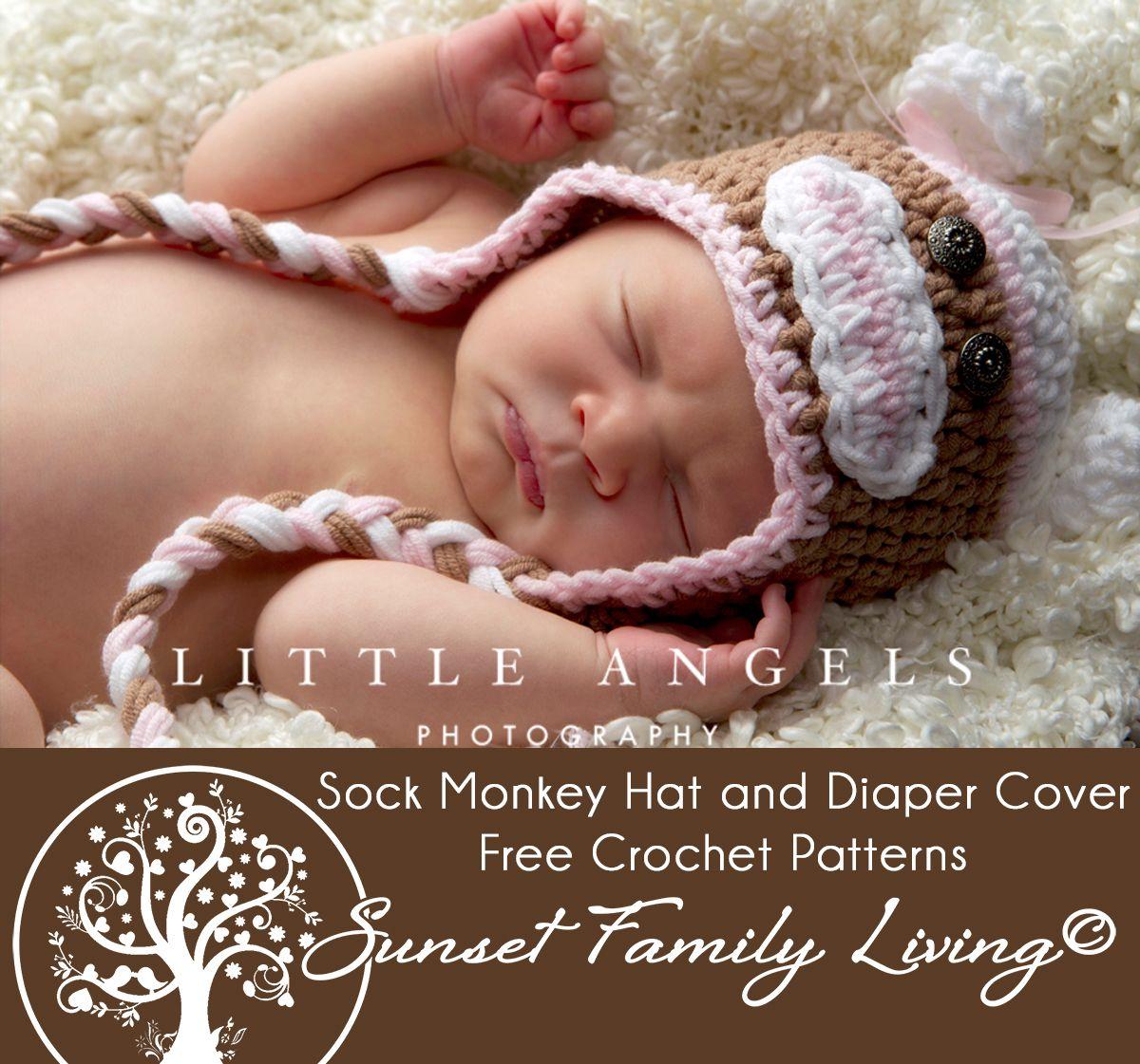 Vintage sock monkey hat free crochet pattern bebe pinterest vintage sock monkey hat free crochet pattern bankloansurffo Images