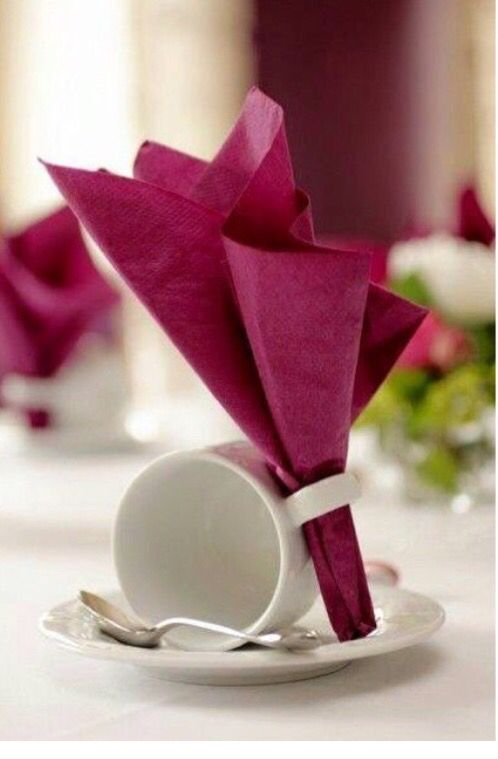 Servietten Tassen Deko Kaffeetafel | Basteln | Pinterest ...