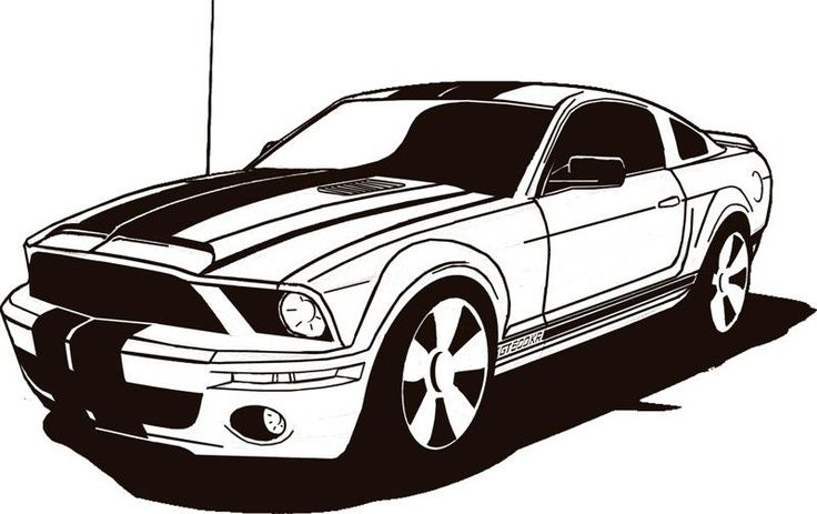 Ford Mustang Clip Art Cliparts Car Drawings Race Car Coloring Pages Art Cars