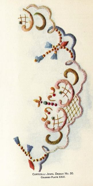 """From the public domain ebook, """"Corticelli Home Needlework 1898"""". Download in pdf, epub or kindle format here: https://archive.org/stream/CorticelliHomeNeedlework/CorticelliNeedlework"""